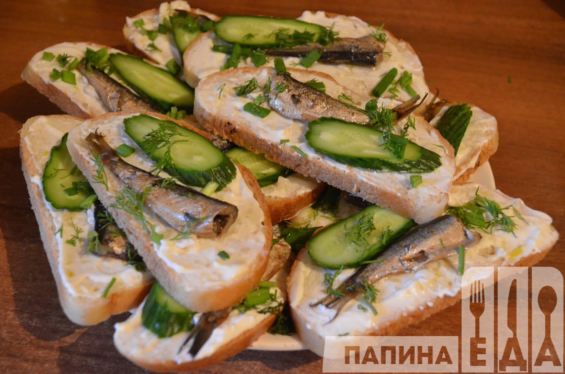 Холодные бутерброды закуски фото