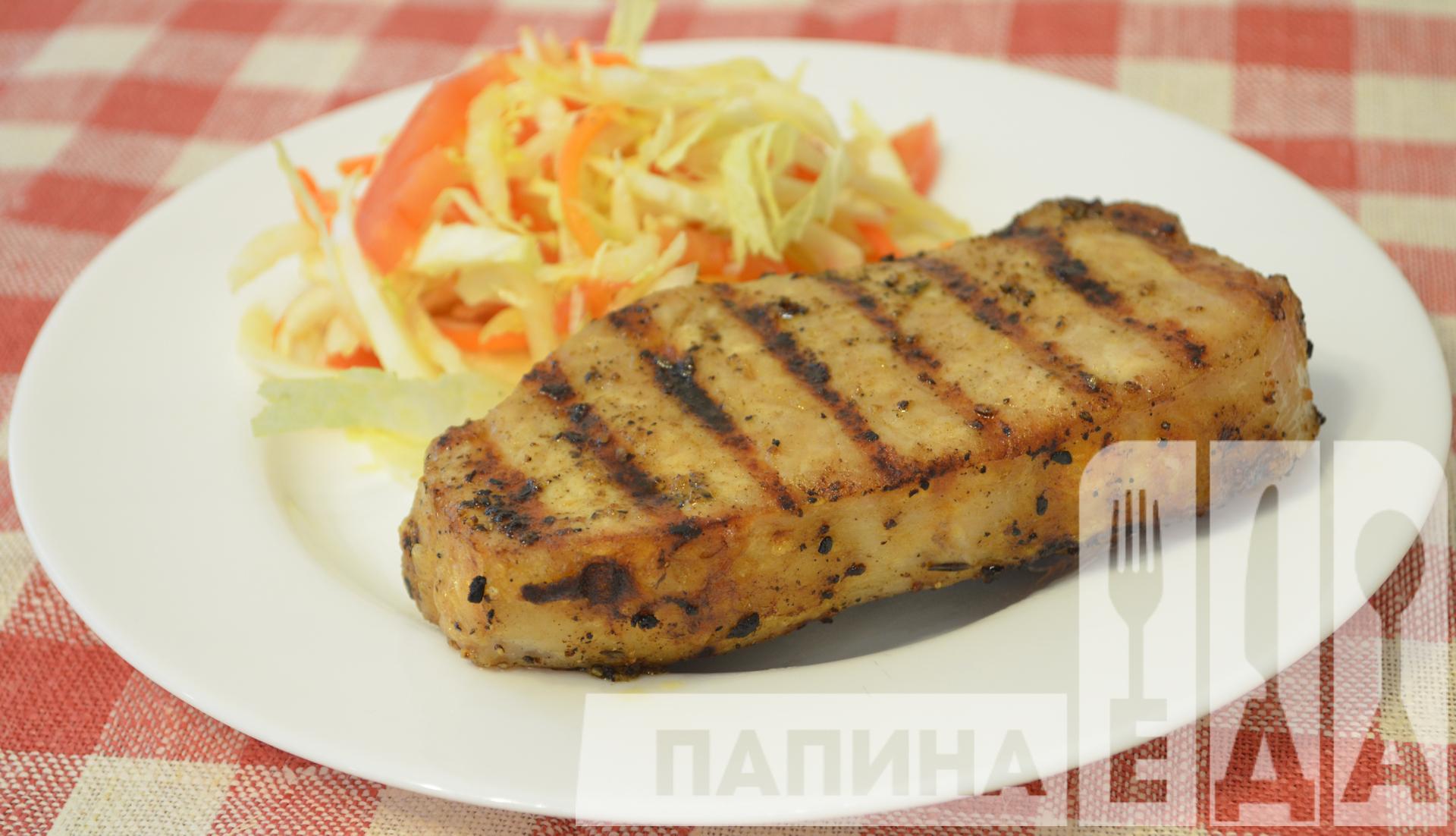 Как сделать дома стейк из свинины