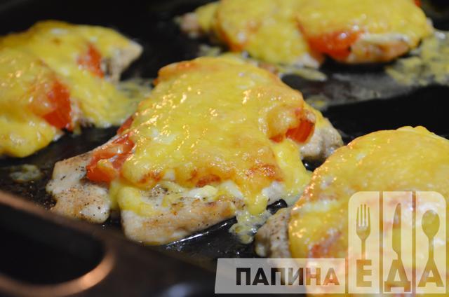 куриная отбивная с помидорами рецепт фото