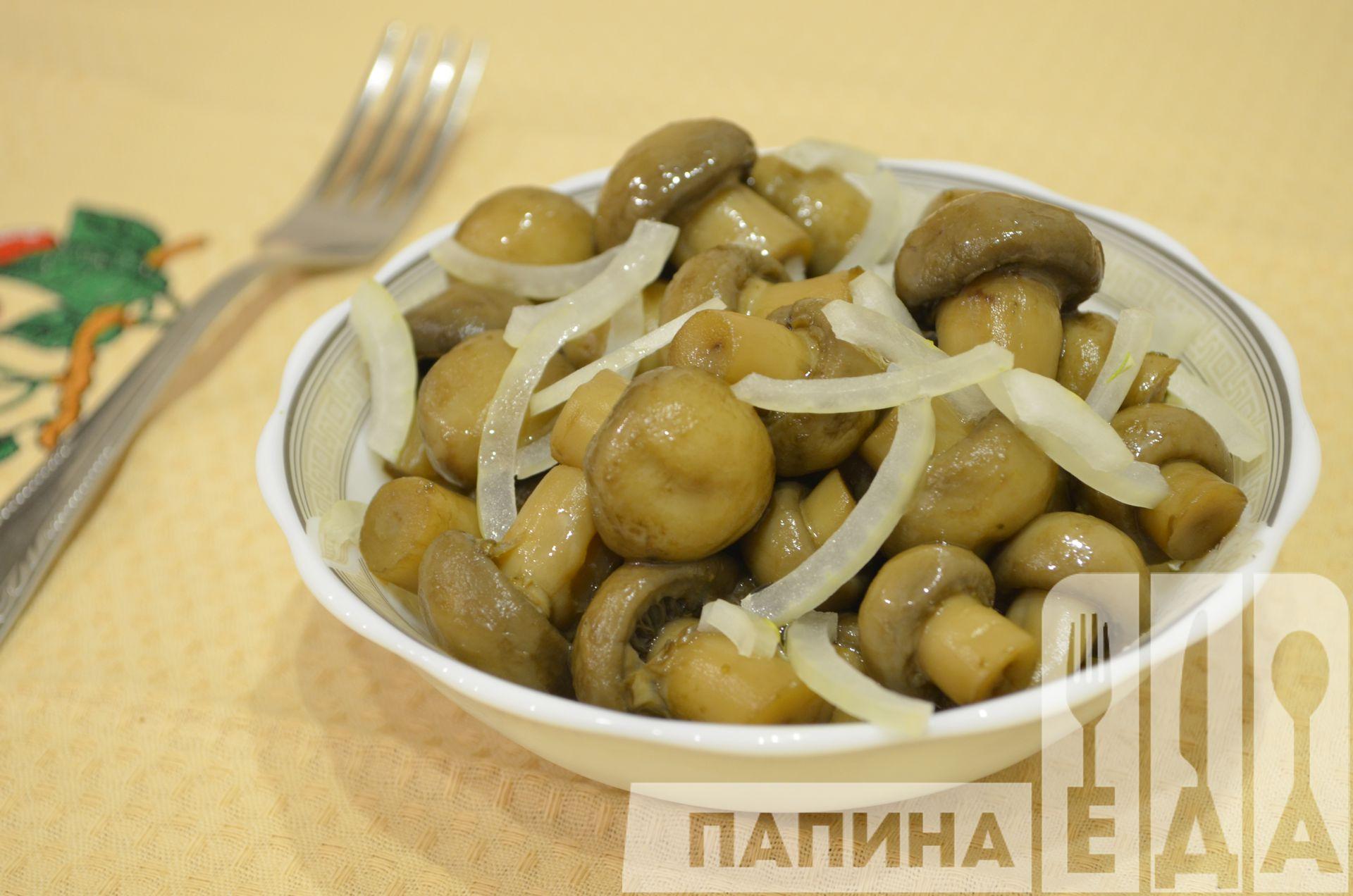 Маринованные грибы фото пошагово